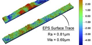 EPS and Acid Pickled Surface Texture Analysis